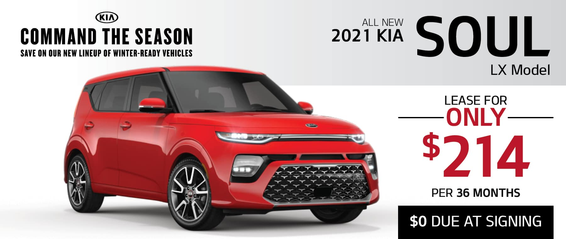 Kia Soul Lease Offer During the Command the Season Sales Event at Smail Kia