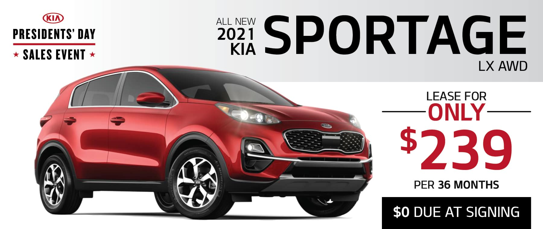 2021 KIA Sportage LX AWD - Special Offer Announced!