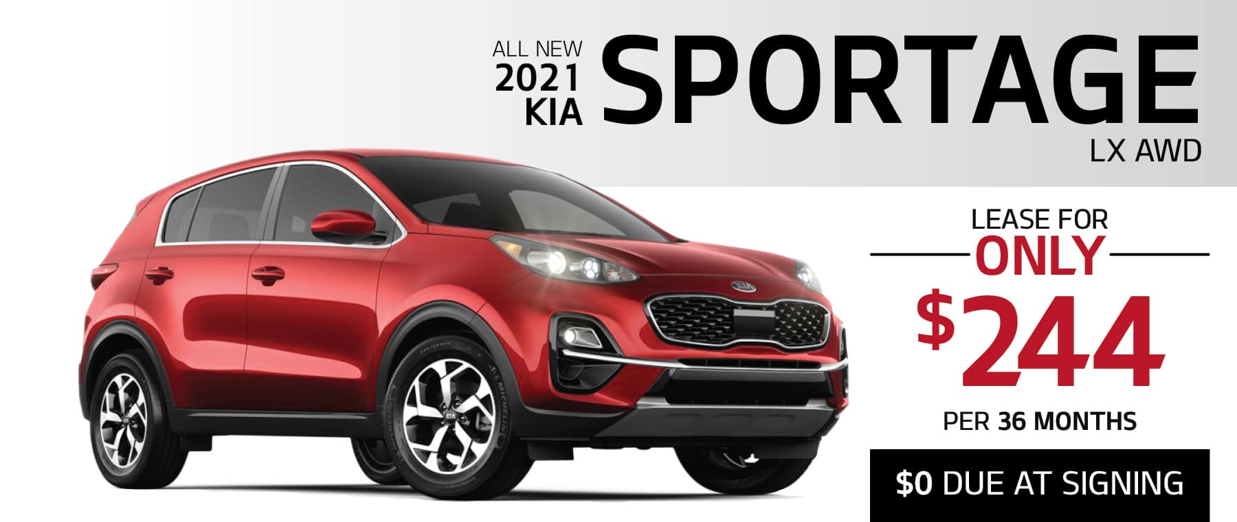 2021 Kia Sportage LX AWD lease for $244 per month with $0 due at signing at Smail Kia