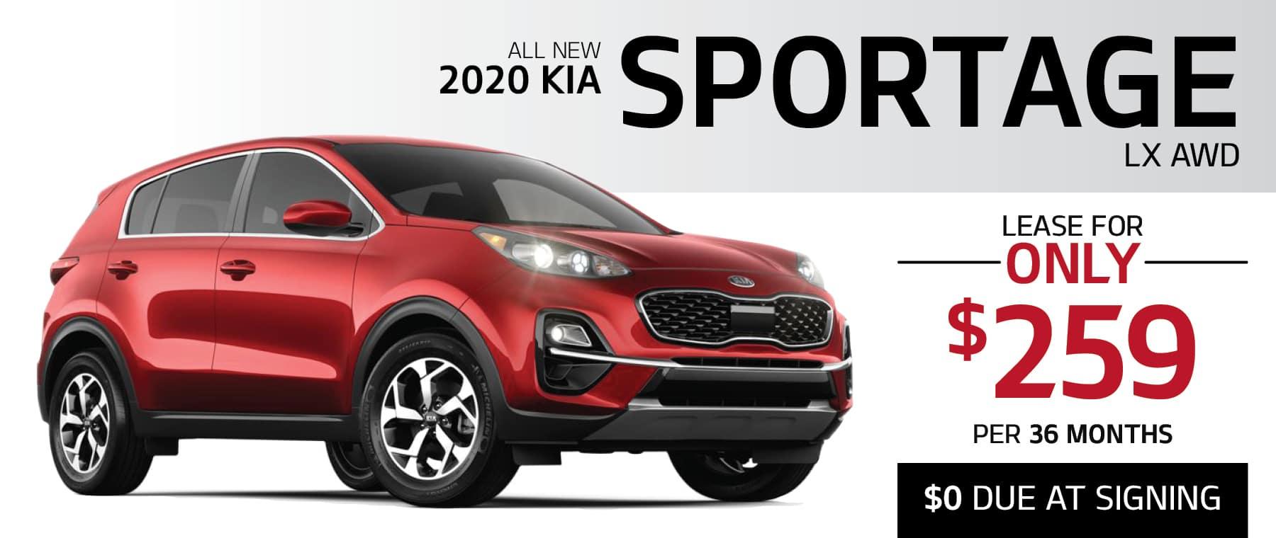 2020 KIA SPORTAGE LX AWD lease in Greensburg PA 15601