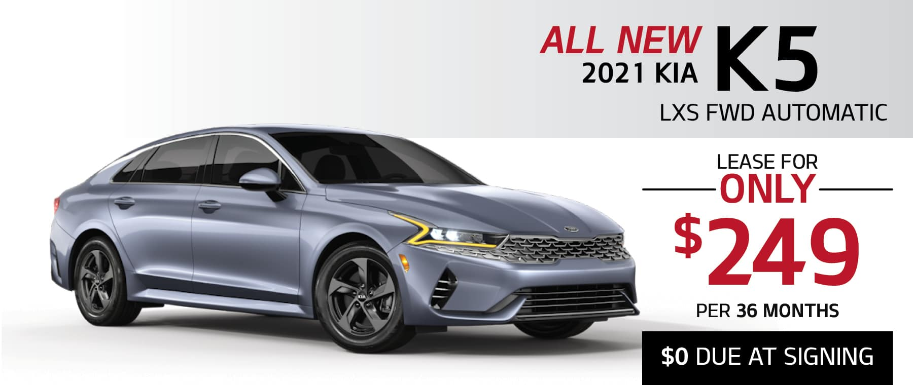 2021 Kia K5 LXS lease for $249 per month with $0 due at signing at Smail Kia
