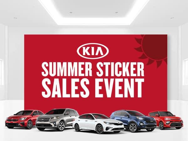 Kia Summer Sticker Sales Event