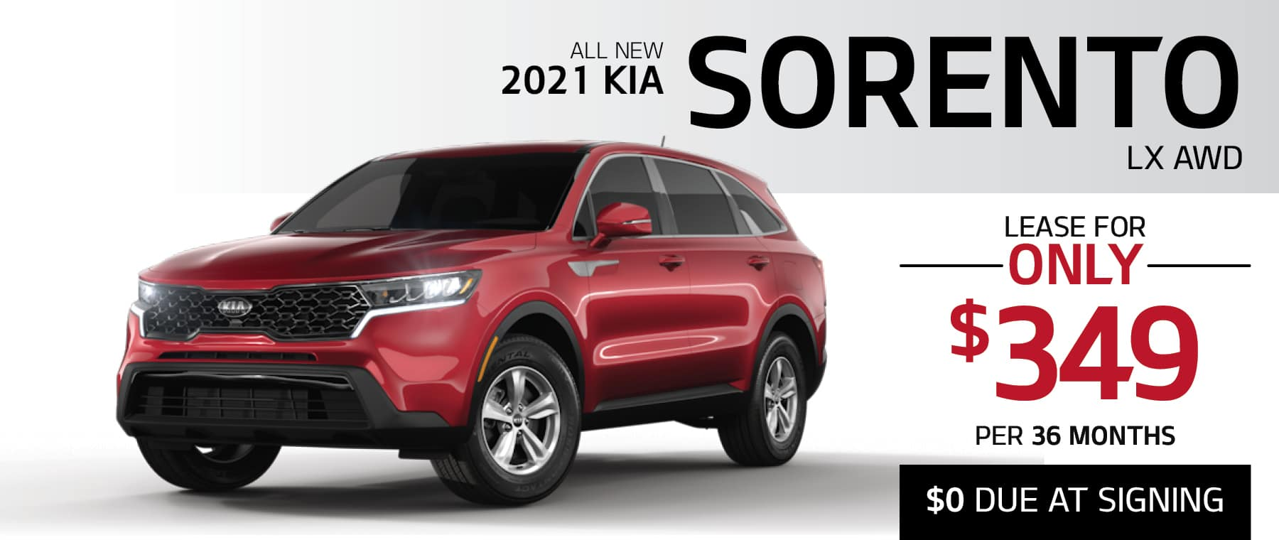 2021 Kia Sorento LX lease for $349 per month with $0 Due at Signing at Smail Kia