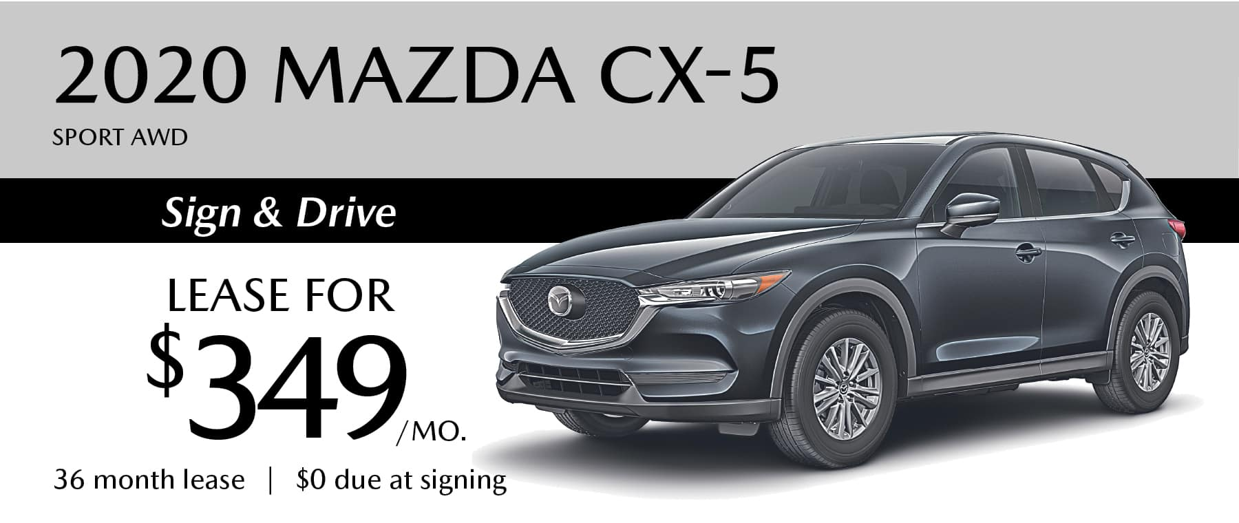 2020 MAZDA CX-5 Sport AWD Lease Offer in Greensburg PA with $0 Due at signing