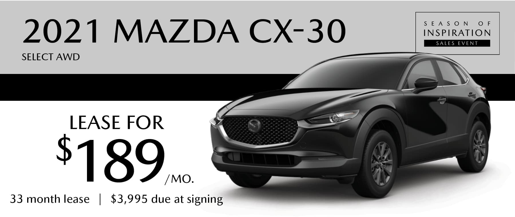2021 MAZDA CX-30 Select AWD Lease Offer