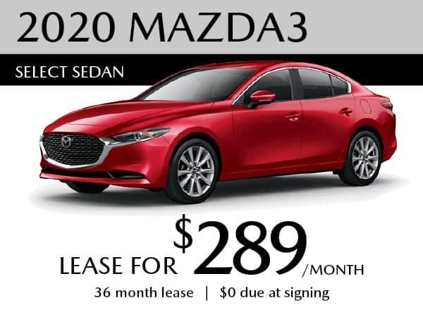 2020 Mazda3 Select Sedan