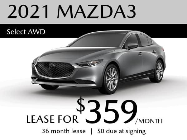 2021 Mazda3 Sedan AWD