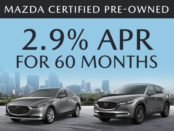 2.9% APR For up to 60 Months