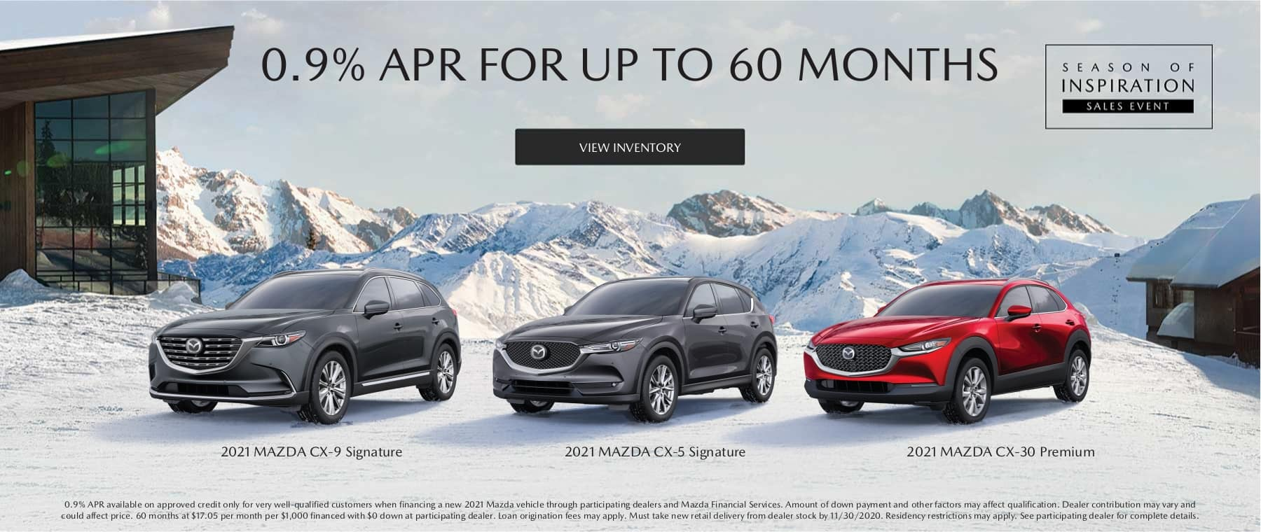0.9% APR For up to 60 Months on Select Mazda Vehicles at Smail Mazda