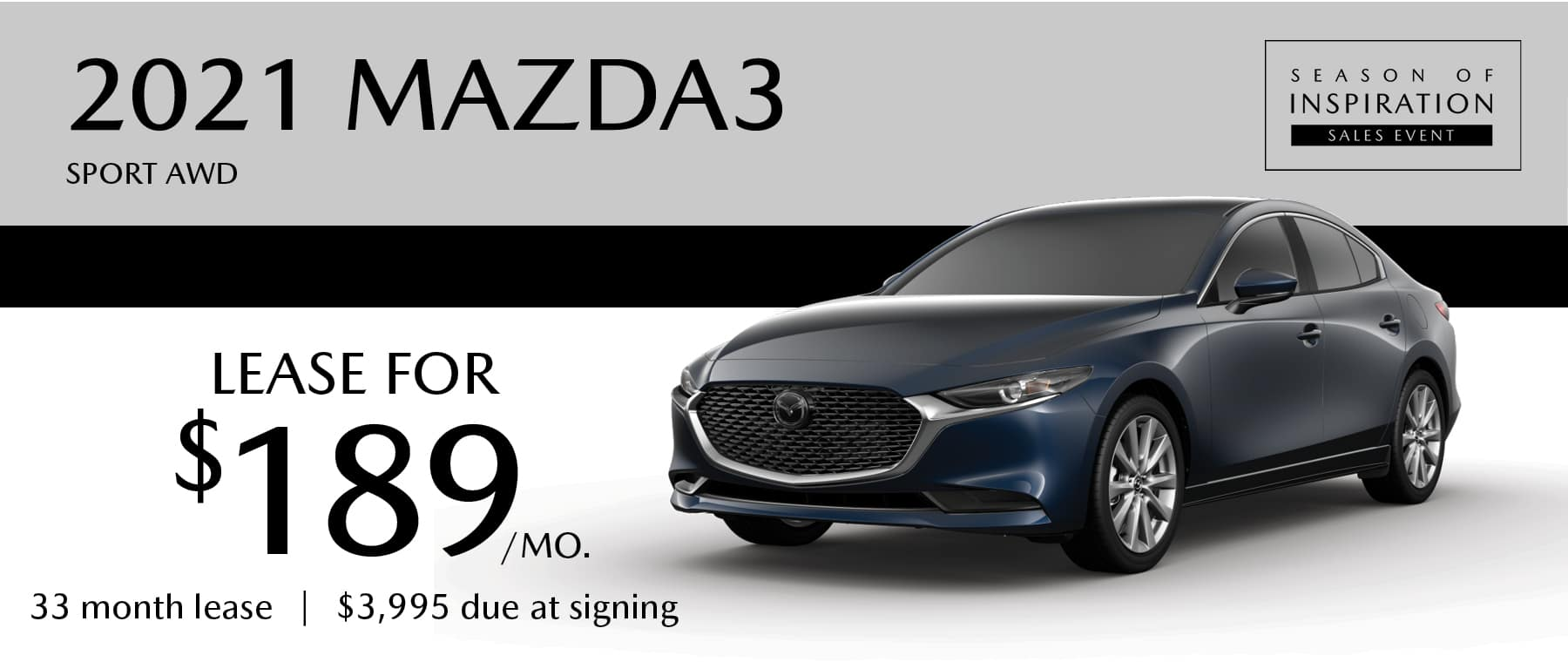 2021 MAZDA3 Sport AWD Lease Offer at Smail Mazda