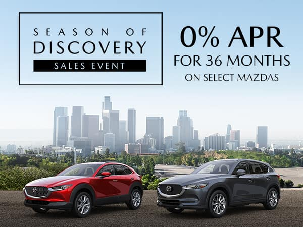 - Mazda Season of Discovery Summer Sales Event