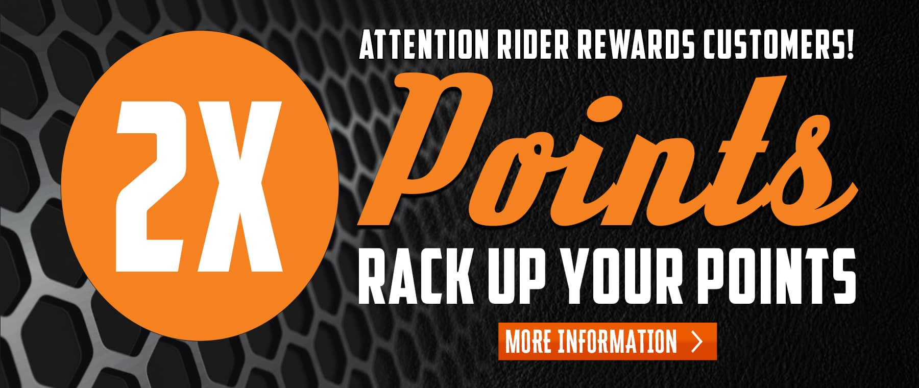 Double Reward Points Web Banner