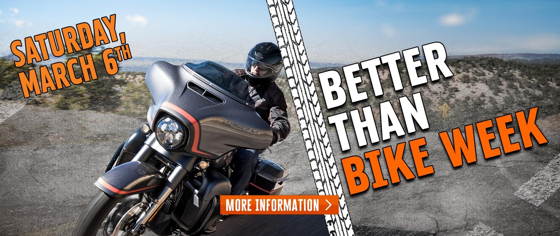 Better Than Bike Week – Web Banner