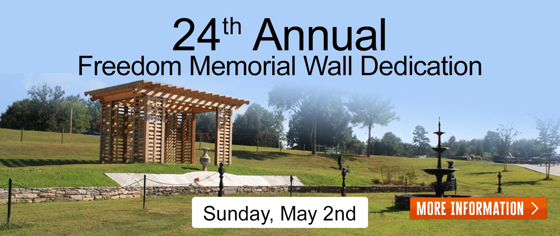 Freedom Memorial Wall – Web Banner