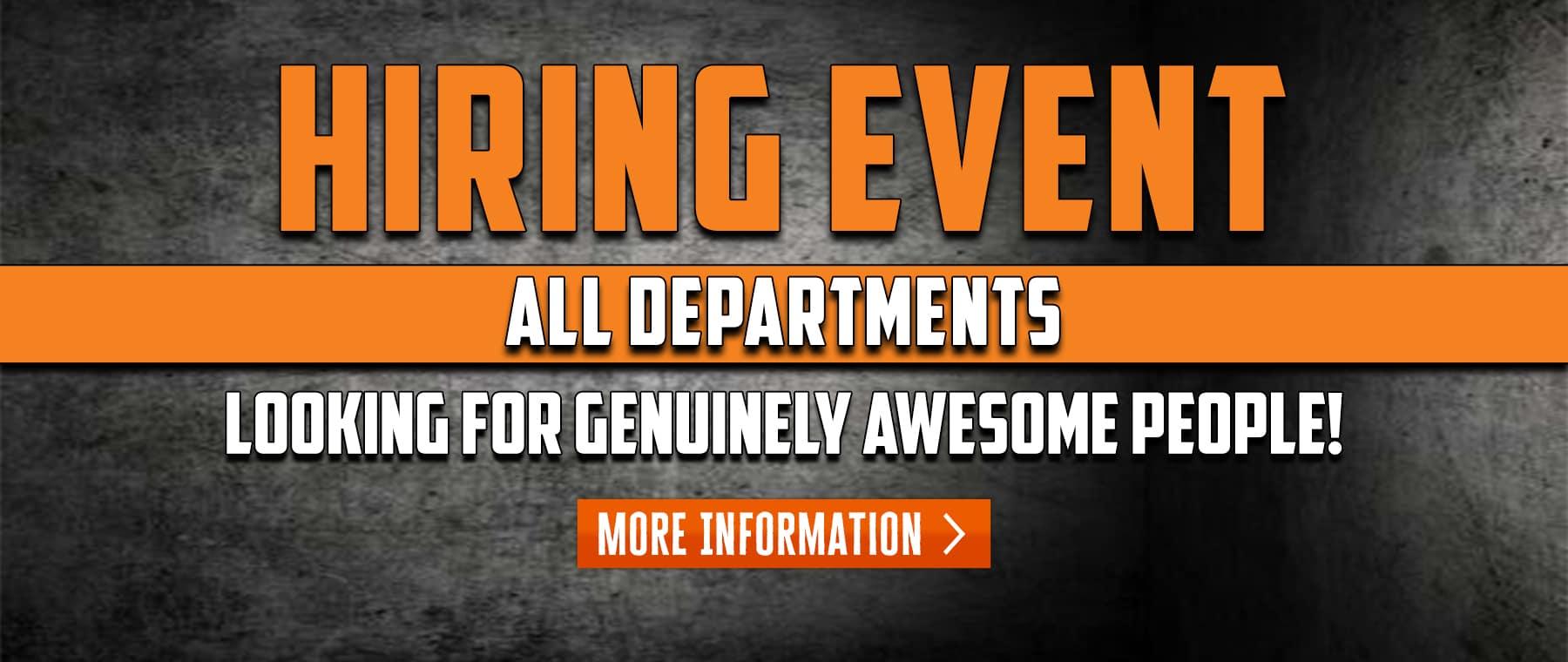 Hiring Event – Web Banner