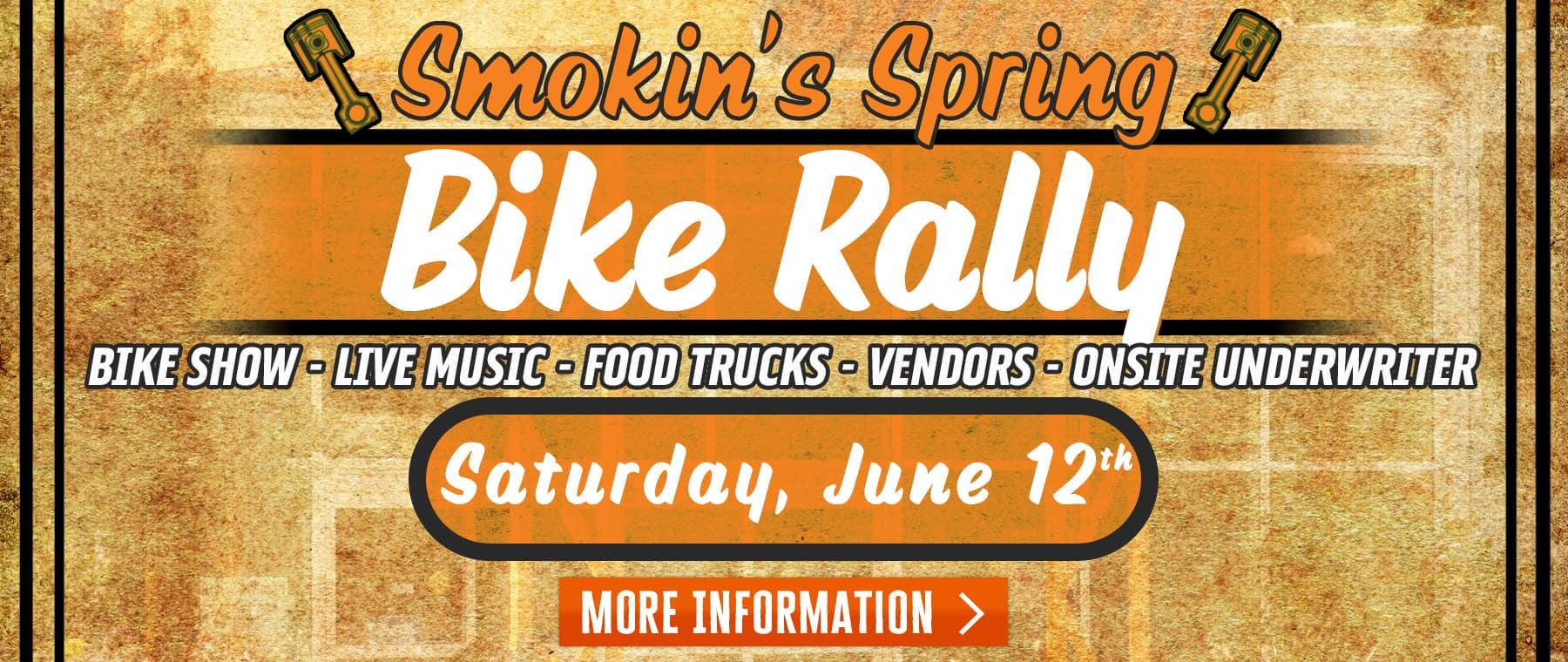 Smokin' Spring Bike Rally – Web Banner