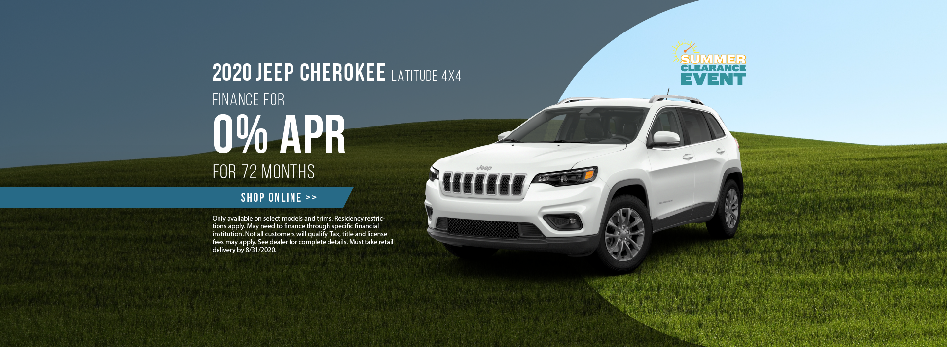 2020 Jeep Cherokee Offer