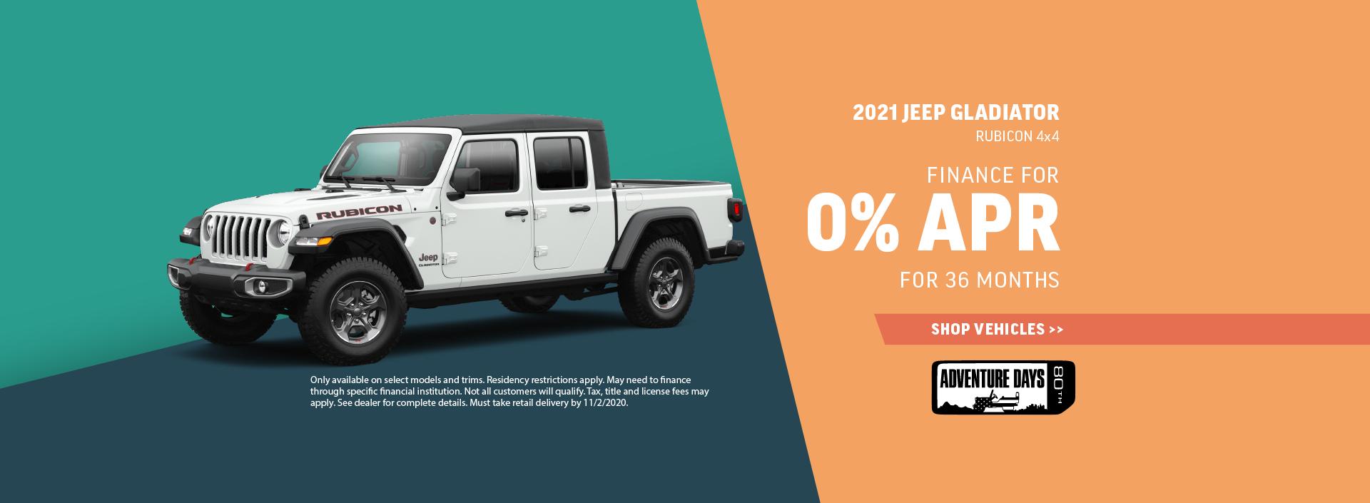 2020 Jeep Gladiator Offer