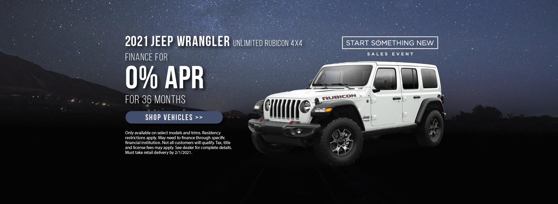 2021 Jeep Wrangler Offer