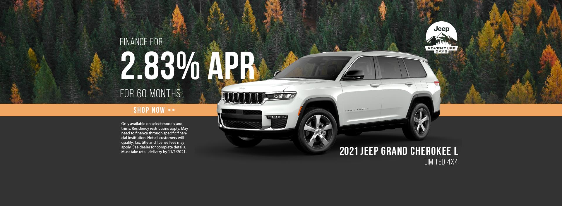 2021 Jeep Grand Cherokee L Finance Offer
