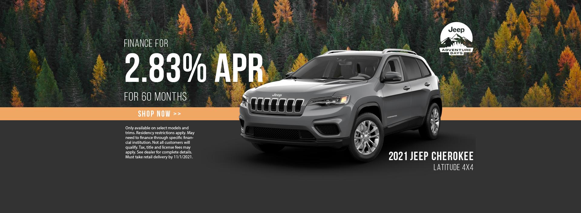 2021 Jeep Cherokee Finance Offer