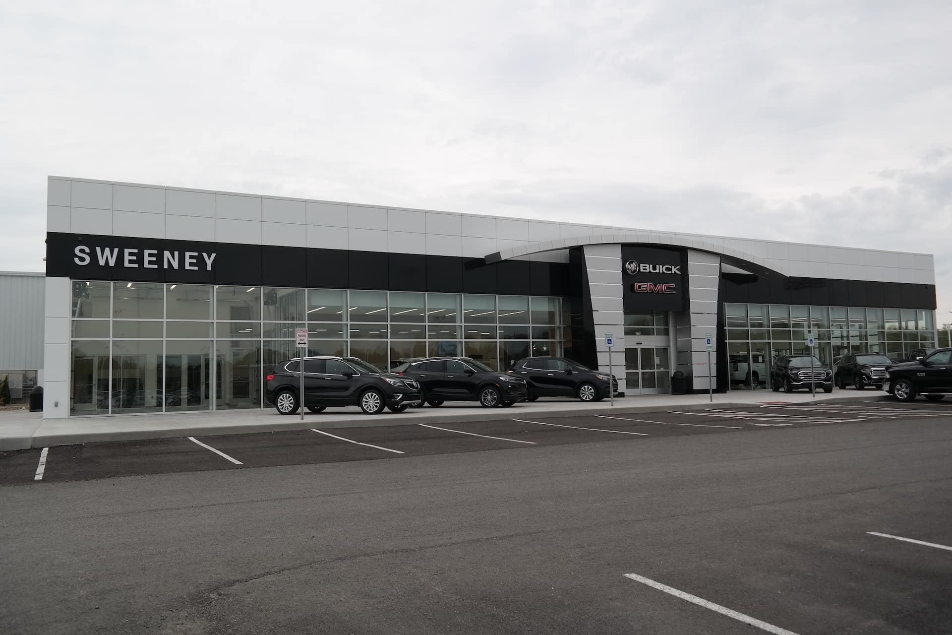 An exterior shot of the dealership.