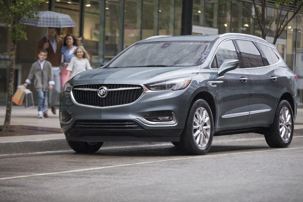buick enclave on city street