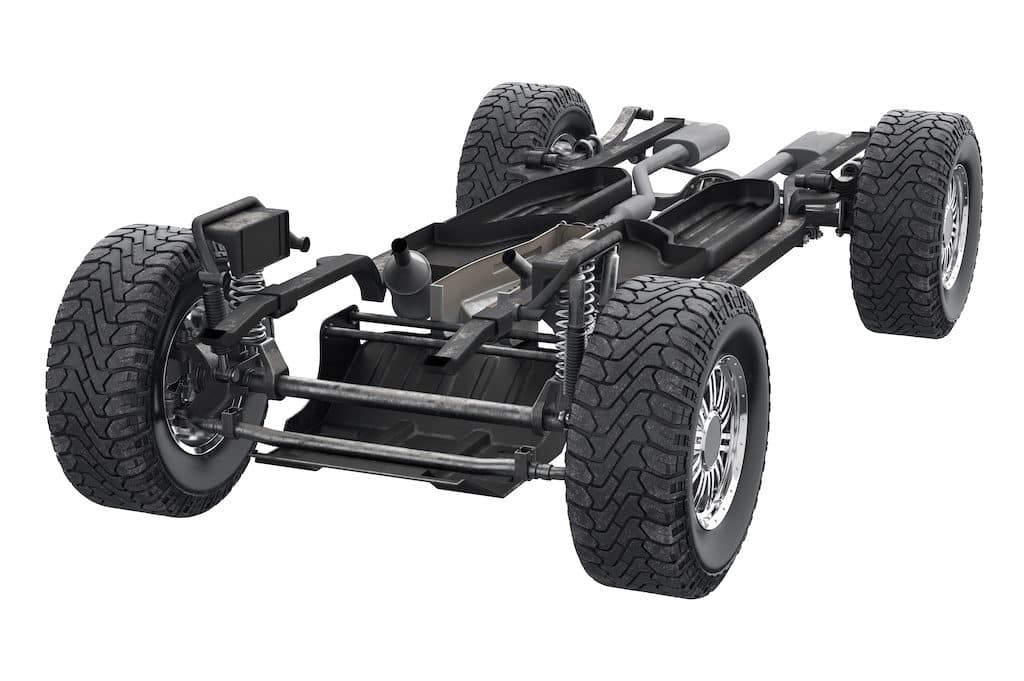 Chassis frame car
