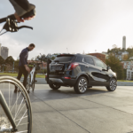 bike riding in city with buick encore trunk mounted bike rike