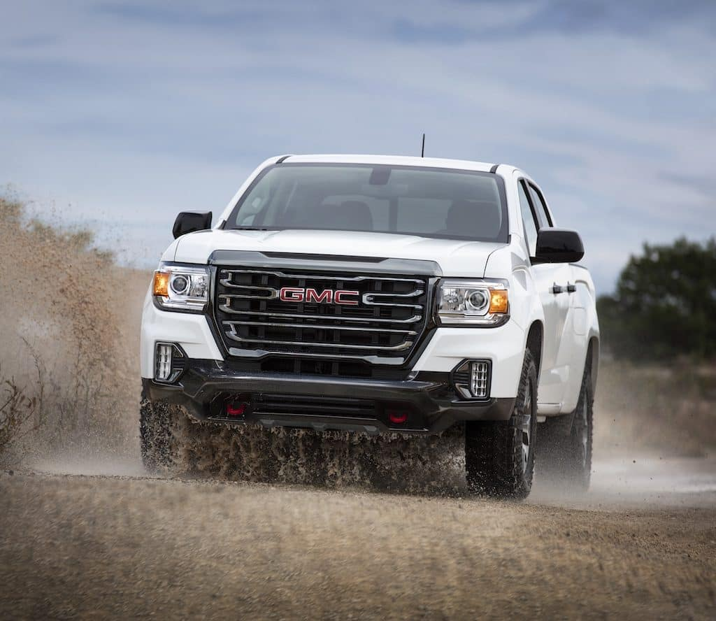 2021 GMC Canyon AT4 Crew Cab Short Box in Summit White