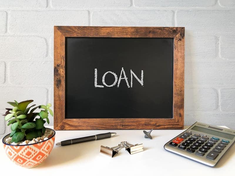 loan written on black board