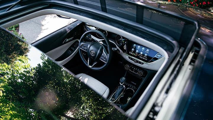 2021 buick encore gx sun roof exterior into dashboard