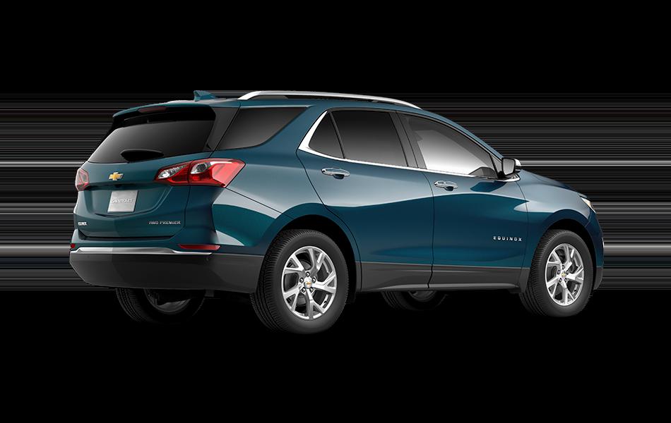 2021 GMC Terrain Deep Azure Metallic 3/4 passenger side rear view