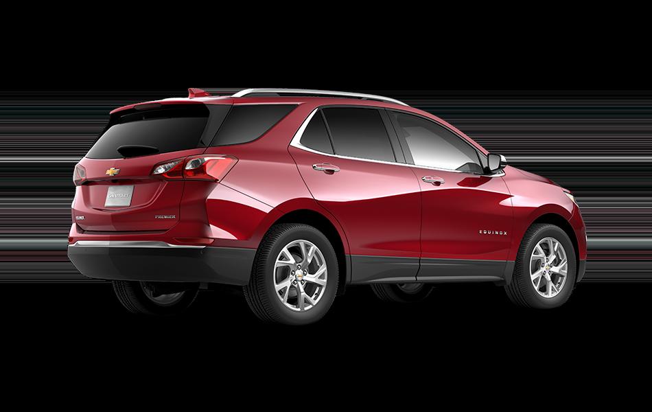 2021 GMC Terrain Chili Red Metallic 3/4 passenger side rear view