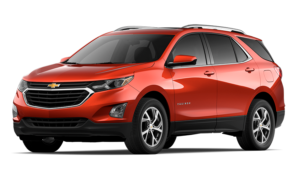 2021 Chevy Equinox SUV in Cayenne Orange Metallic Exterior Color, shown from 3/4 drivers side front