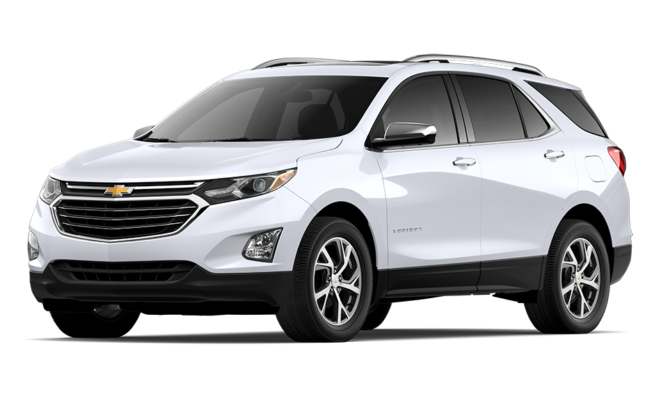 2021 Chevy Equinox SUV in Iridescent Pearl Tricoat Exterior Color, shown from 3/4 drivers side front