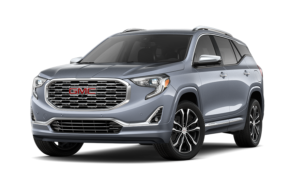 2021 GMC Terrain SUV in Burnished Bronze Metallic Exterior Color, shown from 3/4 drivers side front
