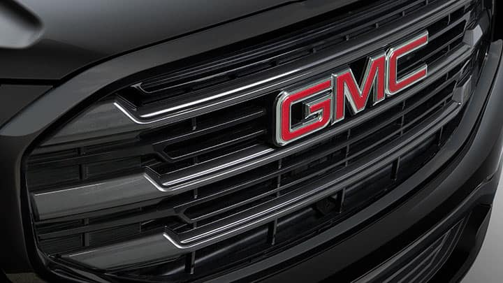 2021 GMC Terrain Elevation Edition; 3/4 Passenger side Front; Close-up of Grill/Grille Detail; Exterior