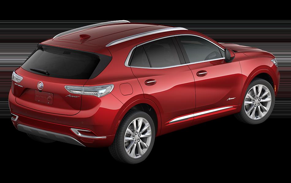 2021 Buick Envision Avenir in Cinnabar Metallic passenger rear