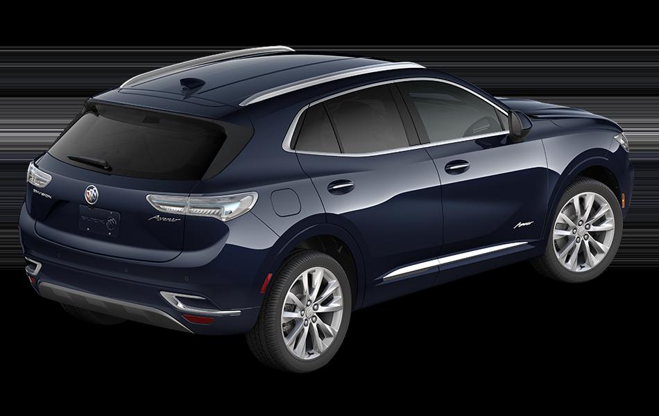 2021 Buick Envision Avenir in Dark Moon Blue Metallic passenger rear