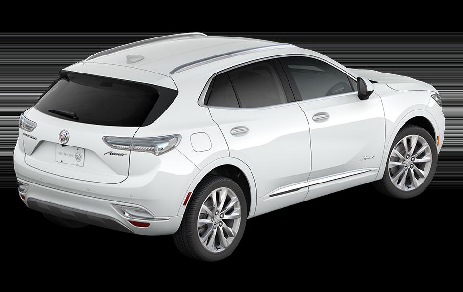 2021 Buick Envision Avenir Summit White rear passenger side