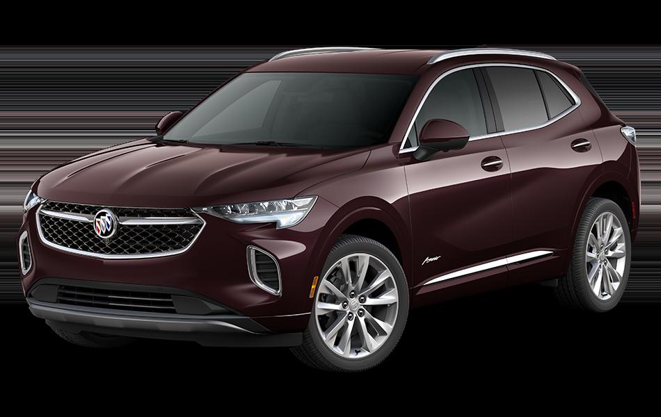 2021 Buick Envision Avenir in Rich Garnet Metallic driver front