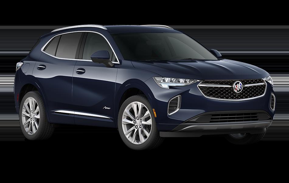 2021 Buick Envision Avenir in Dark Moon Blue Metallic passenger front