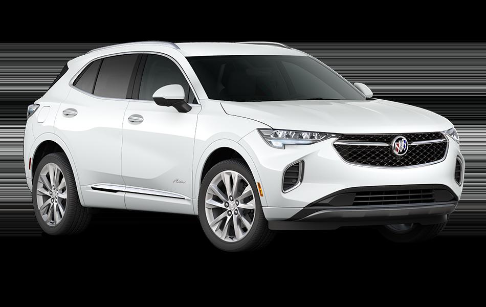 2021 Buick Envision Avenir Summit White front passenger side