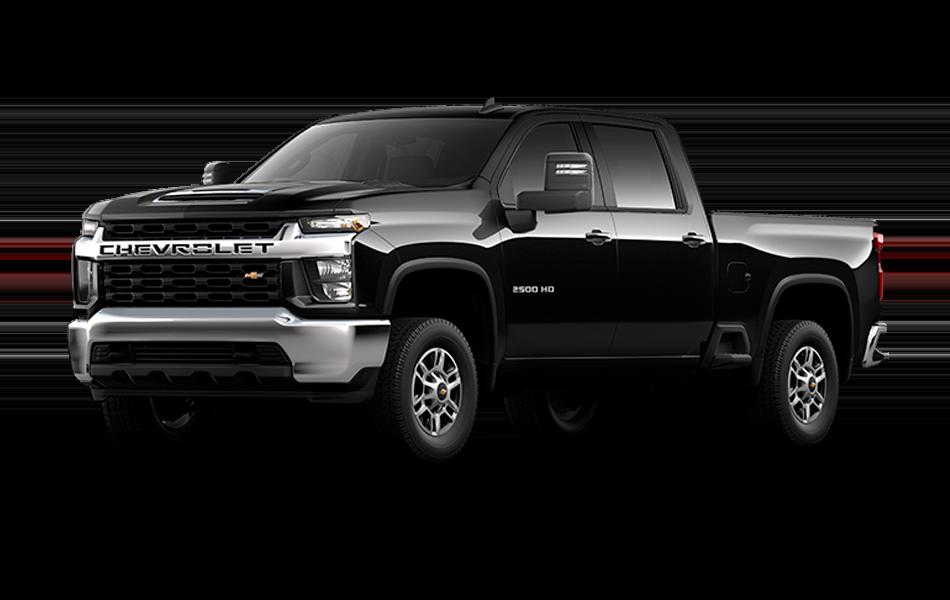 2021 Chevrolet Silverado in black color