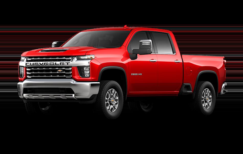 2021 Chevrolet Silverado in Red Hot color