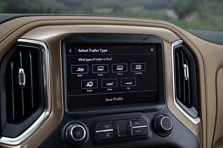 Chevy Silverado 1500 Crew Cab High Country Advance Trailering System Transparent Trailer View Interior