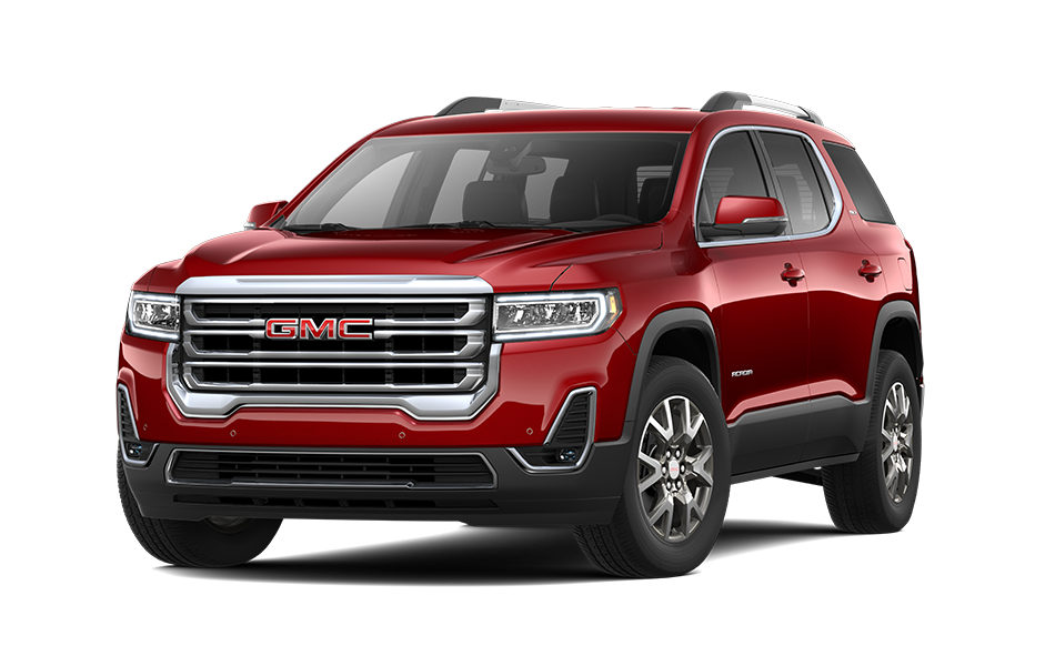 2021 GMC Acadia in Cayenne Red Tintcoat color