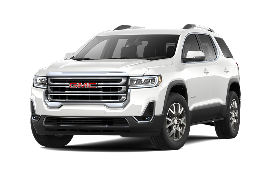 2021 GMC Acadia in White Frost Tricoat color