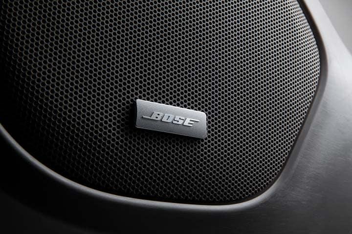 2021 GMC Acadia Bose Premium 8-Speaker Audio System with Sub-Woofer; Detail Shot